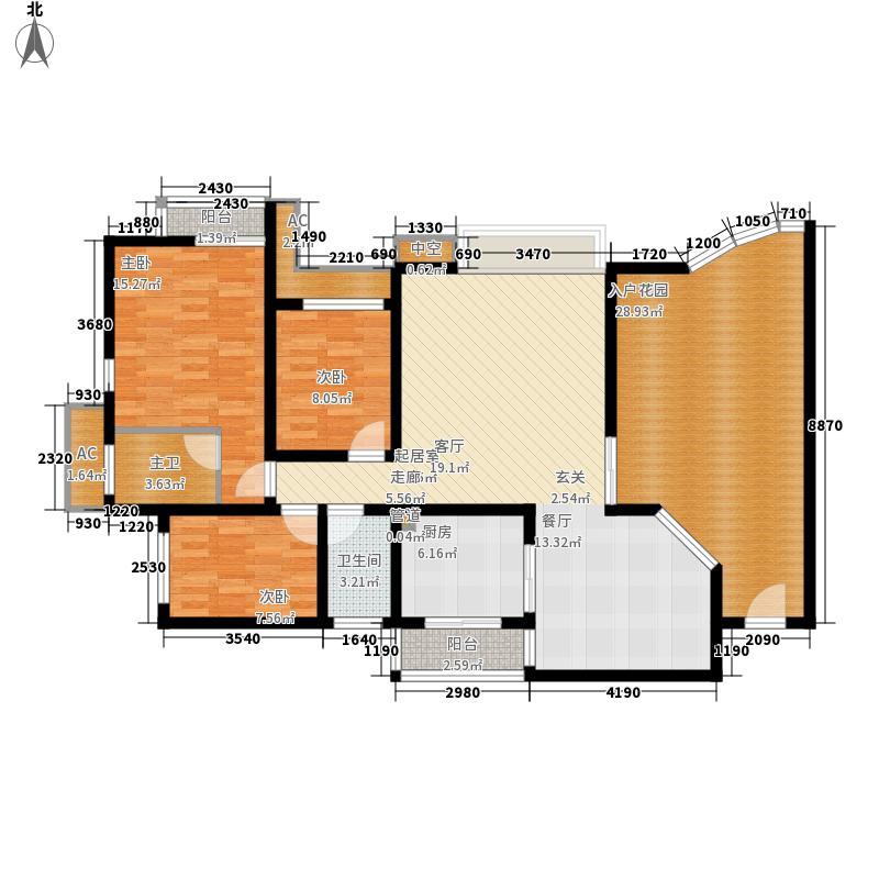 新世界花园灏景台206.00㎡新世界花园灏景台3室户型3室
