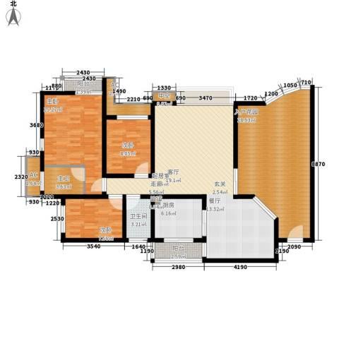 新世界花园灏景台3室0厅1卫1厨206.00㎡户型图