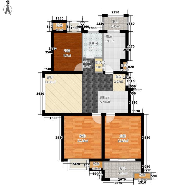 扬子颐和苑户型图C户型 2室2厅1卫1厨