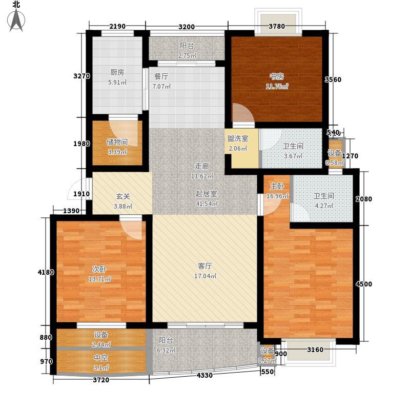 龙城花园140.43㎡龙城花园户型图9#楼乙013室2厅2卫1厨户型3室2厅2卫1厨