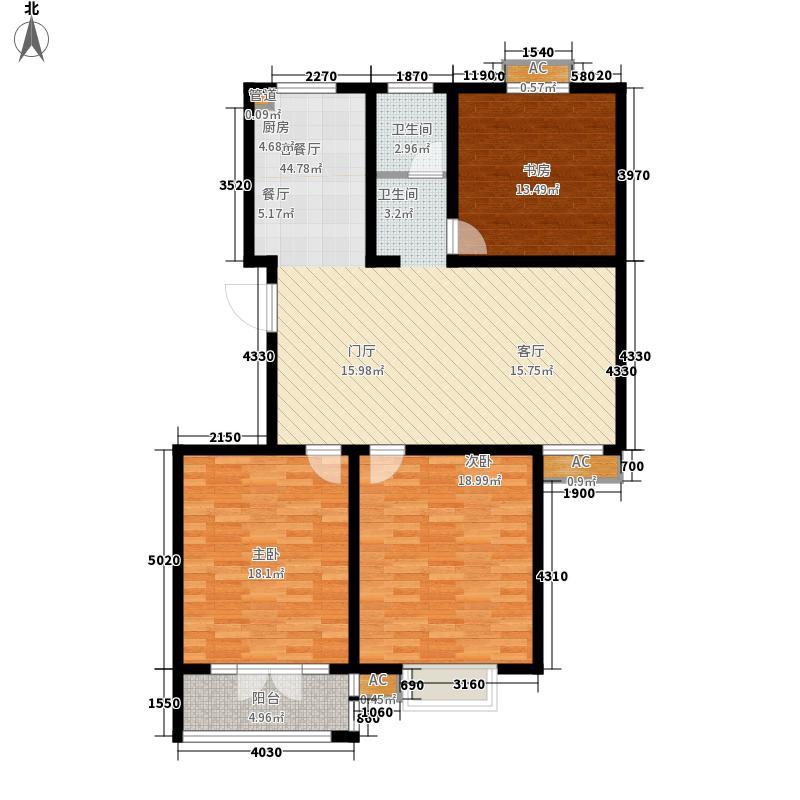华夏太阳城119.38㎡华夏太阳城户型图F3室2厅1卫户型3室2厅1卫
