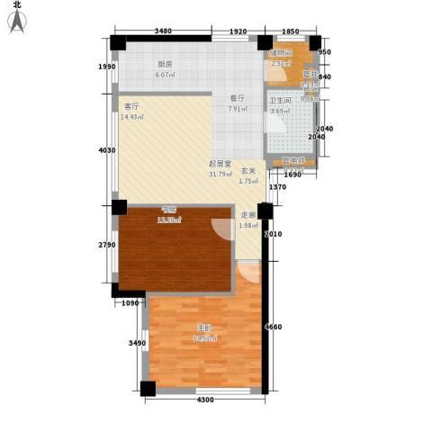 圆缘雅居2室0厅1卫0厨85.00㎡户型图