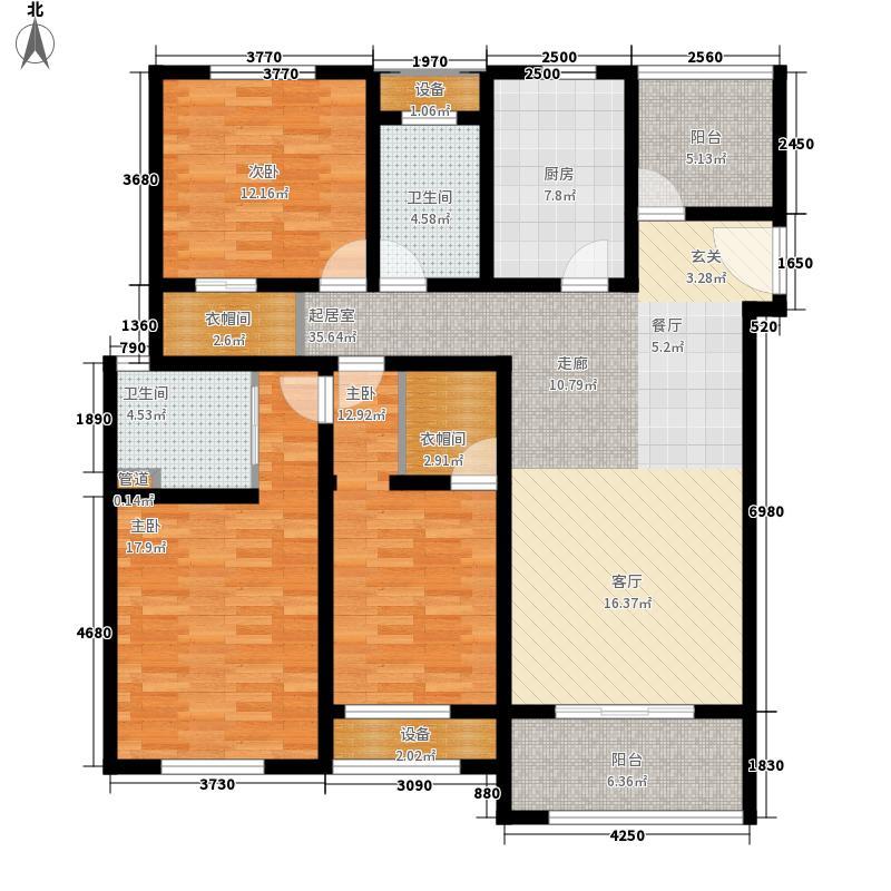 万水美兰城140.00㎡万水美兰城户型图二期马赛玫瑰户型3室2厅2卫1厨户型3室2厅2卫1厨