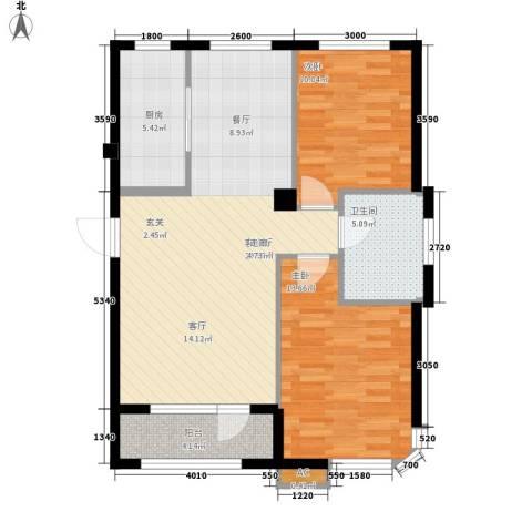 HIGH空间2室1厅1卫1厨97.00㎡户型图