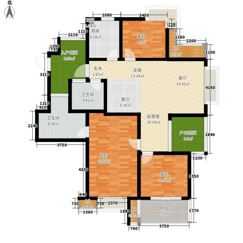 栖霞瑜憬湾140.00㎡栖霞瑜憬湾户型图三期E户型3室2厅2卫户型3室2厅2卫