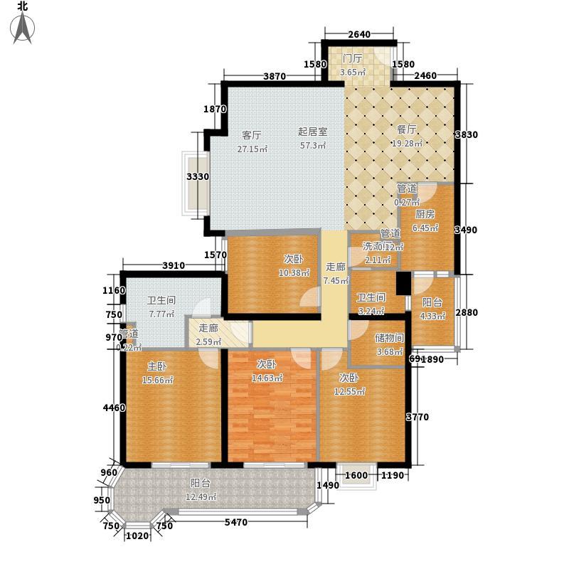 凯旋花园173.00㎡凯旋花园4室户型4室