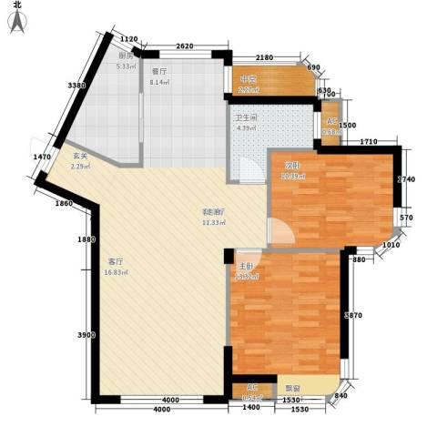 HIGH空间2室1厅1卫1厨105.00㎡户型图