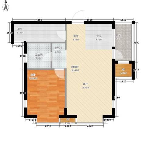 HIGH空间1室1厅1卫1厨87.00㎡户型图