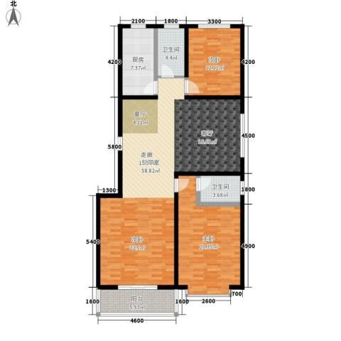 富沁园2室0厅2卫1厨149.00㎡户型图