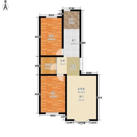 安华美域2室0厅1卫0厨117.79㎡户型图