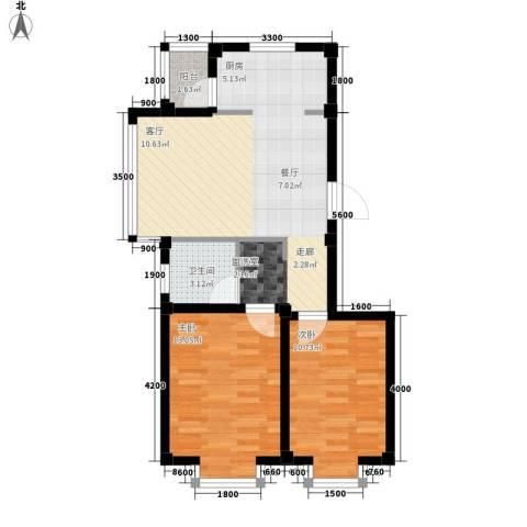 惠和经典2室0厅1卫0厨77.00㎡户型图