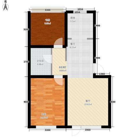 惠和经典2室0厅1卫0厨63.00㎡户型图