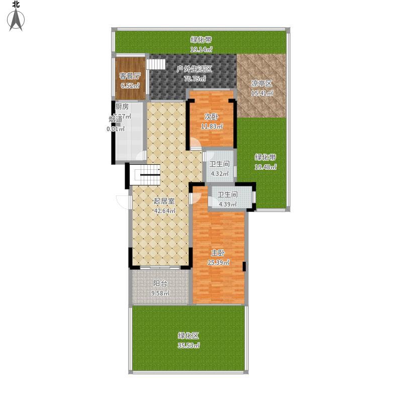 我的设计-优山美郡1楼带花园-方案2