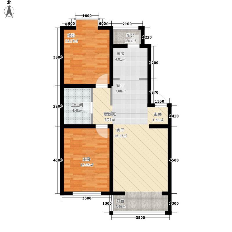 惠和经典户型图87.86 2室2厅1卫
