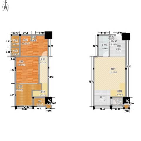 金沙富都2室0厅1卫0厨89.24㎡户型图