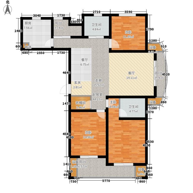 万水美兰城136.49㎡万水美兰城户型图A1户型3室2厅2卫1厨户型3室2厅2卫1厨