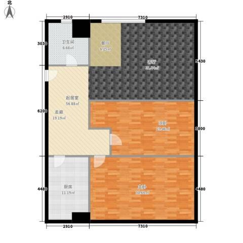 启城2室0厅1卫1厨140.00㎡户型图