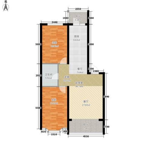 海富山水文园2室0厅1卫0厨101.00㎡户型图