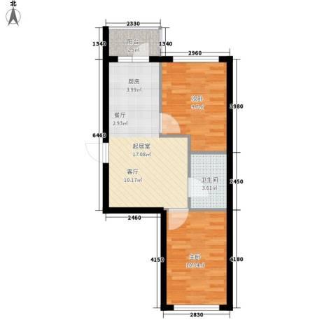 海富山水文园2室0厅1卫0厨49.00㎡户型图