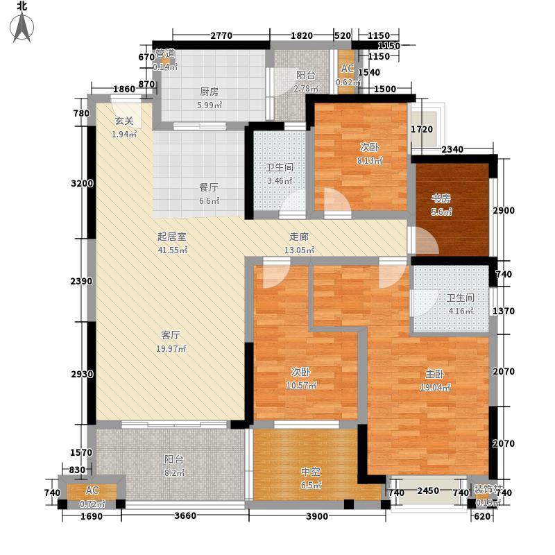 国际社区114.32㎡观园二期13号楼标准层C户型