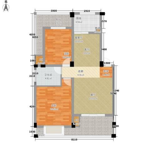 林海山庄2室1厅1卫1厨188.00㎡户型图