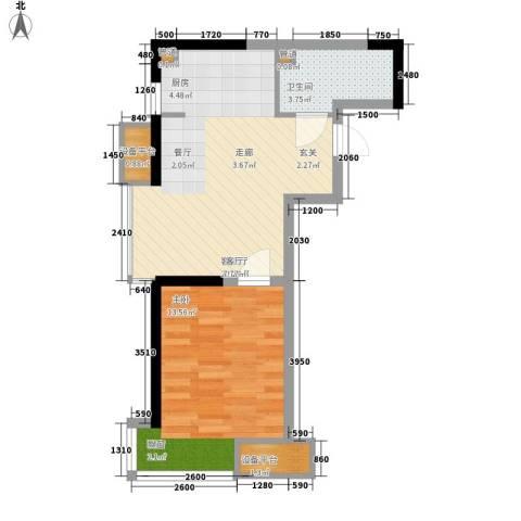 LOHAS上院-7号公寓1室1厅1卫0厨59.00㎡户型图
