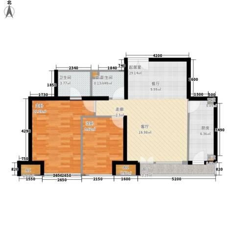 中堂东港城2室0厅2卫1厨94.00㎡户型图