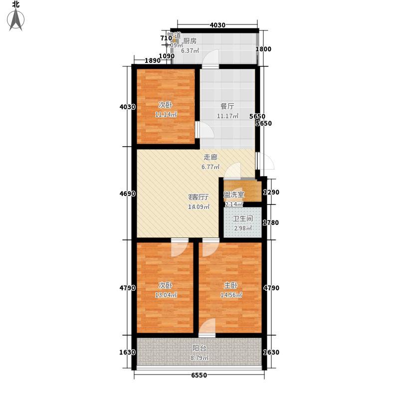 科苑小区105.94㎡科苑小区户型图3室2厅1卫1厨户型10室