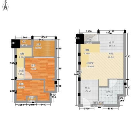 金沙富都2室0厅1卫0厨60.00㎡户型图