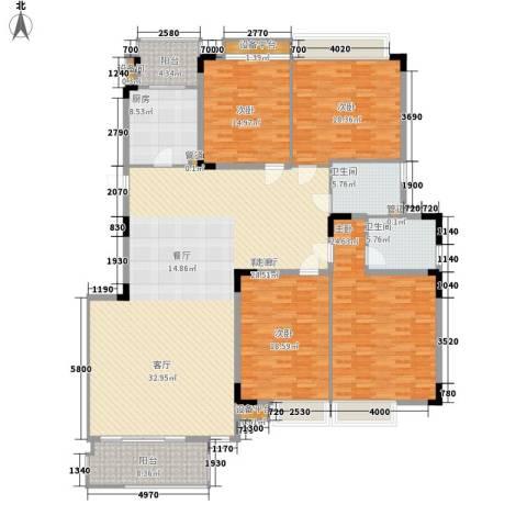 河畔新苑4室1厅2卫1厨202.00㎡户型图