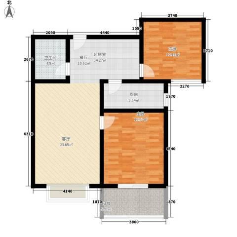 碧水蓝湾2室0厅1卫1厨89.00㎡户型图