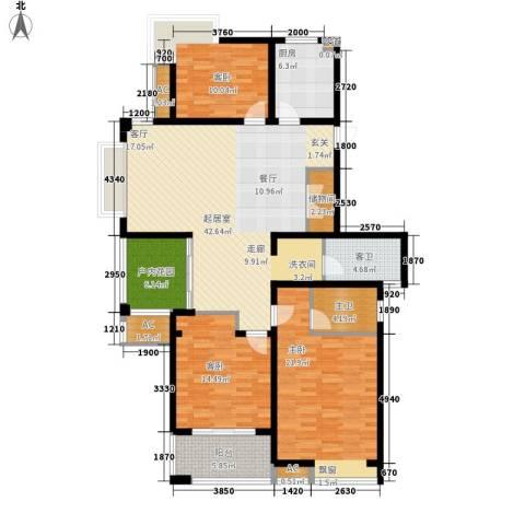 栖霞瑜憬湾3室0厅0卫1厨138.00㎡户型图