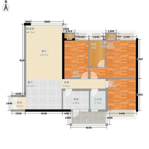 新世界东逸花园蓝谷3室0厅1卫1厨151.00㎡户型图