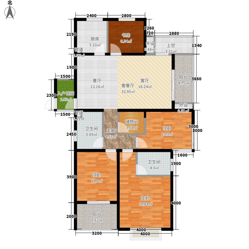 翰林世家144.00㎡7#楼B1-1奇数层户型