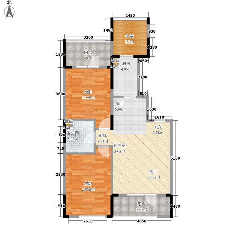 澳海澜庭82.00㎡澳海澜庭户型图82平米F户型2室2厅1卫户型2室2厅1卫