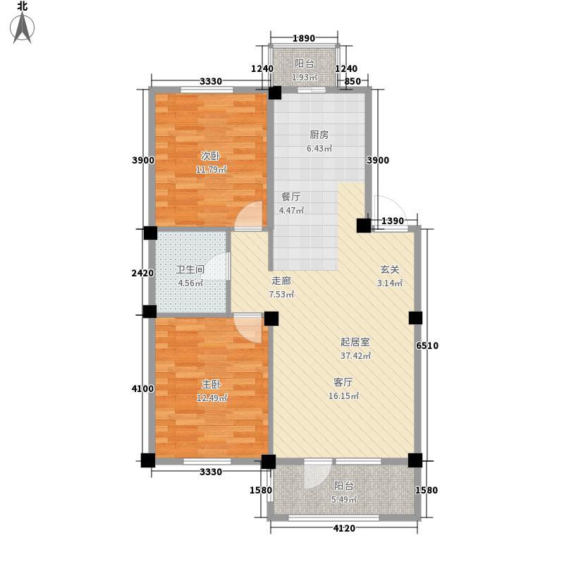 澳海澜庭81.00㎡澳海澜庭户型图81平米户型图2室2厅1卫户型2室2厅1卫