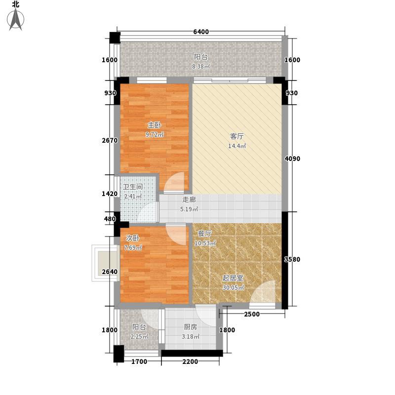龙凤嘉园90.00㎡龙凤嘉园3室户型3室