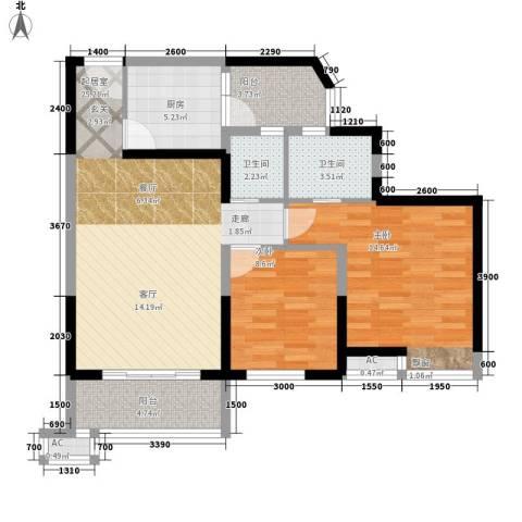 丰乐小区2室0厅2卫1厨80.30㎡户型图