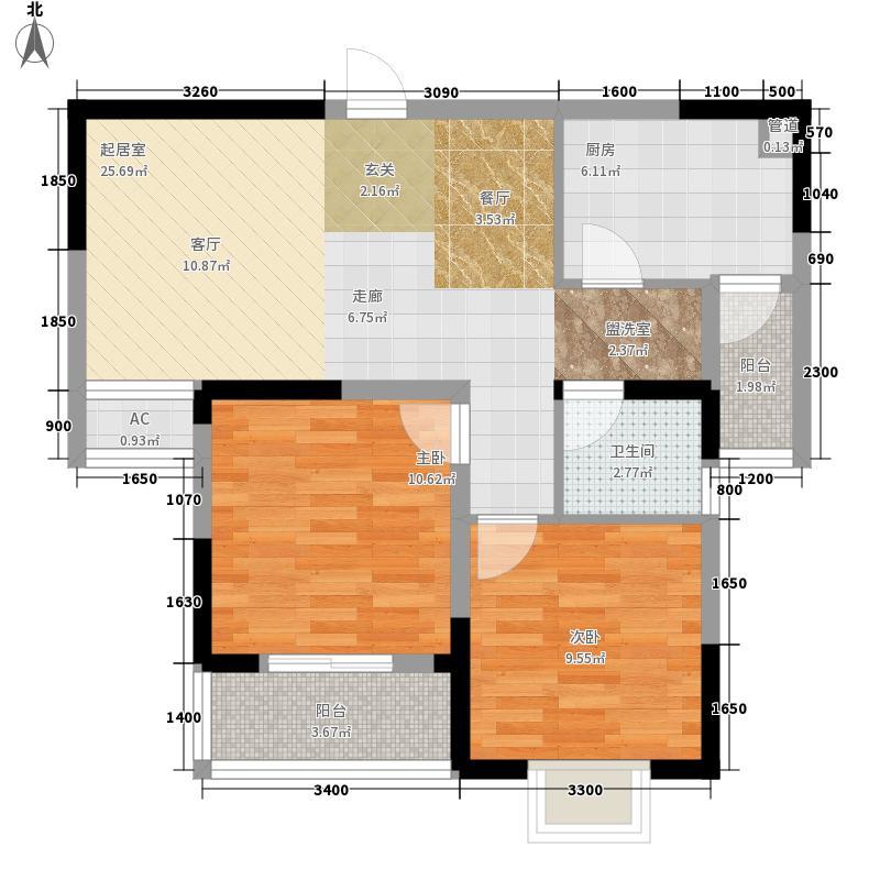 北美印象84.00㎡北美印象户型图7#8#11#GJ户型842室2厅1卫1厨户型2室2厅1卫1厨