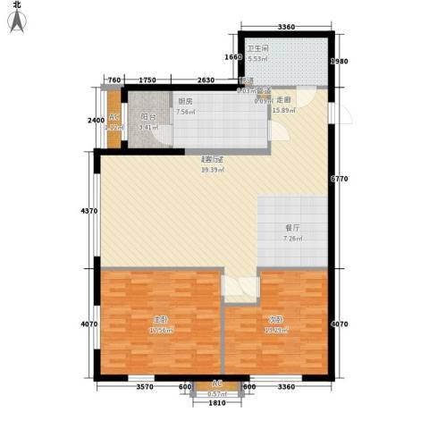 观筑金洋国际2室0厅1卫1厨102.00㎡户型图