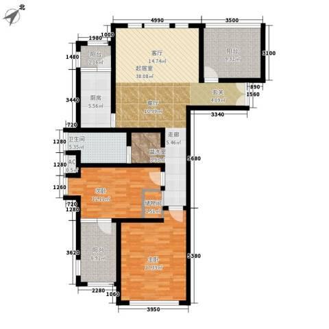 前城优乐2室0厅1卫1厨115.00㎡户型图