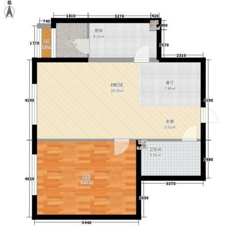 观筑金洋国际1室0厅1卫1厨78.00㎡户型图