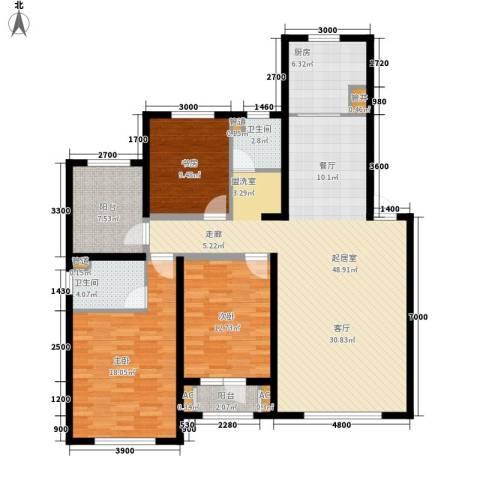 天格东湖湾3室0厅2卫1厨161.00㎡户型图
