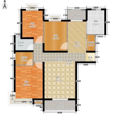 水晶国际3室0厅2卫1厨155.00㎡户型图