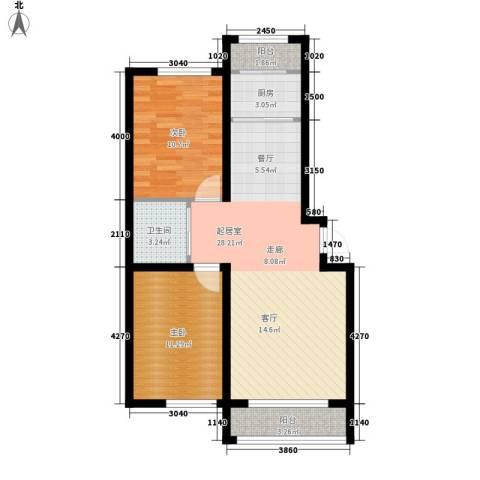 新星宇・之悦2室0厅1卫1厨83.00㎡户型图