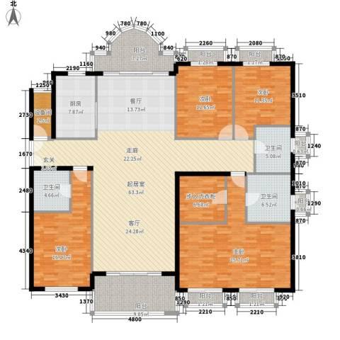 汇翔苑4室0厅3卫1厨184.97㎡户型图