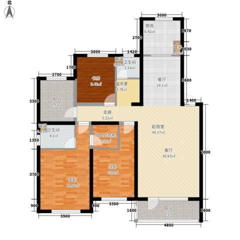天格东湖湾3室0厅2卫1厨171.00㎡户型图