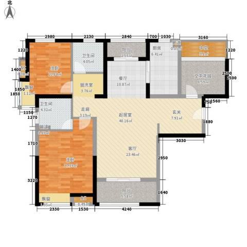 世家英伦2室0厅2卫1厨118.00㎡户型图