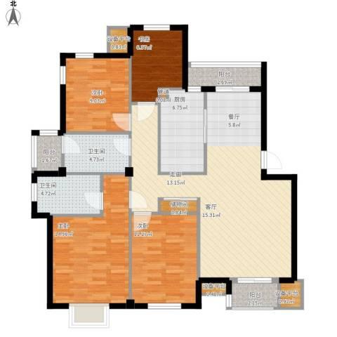 交通御府4室1厅2卫1厨145.00㎡户型图