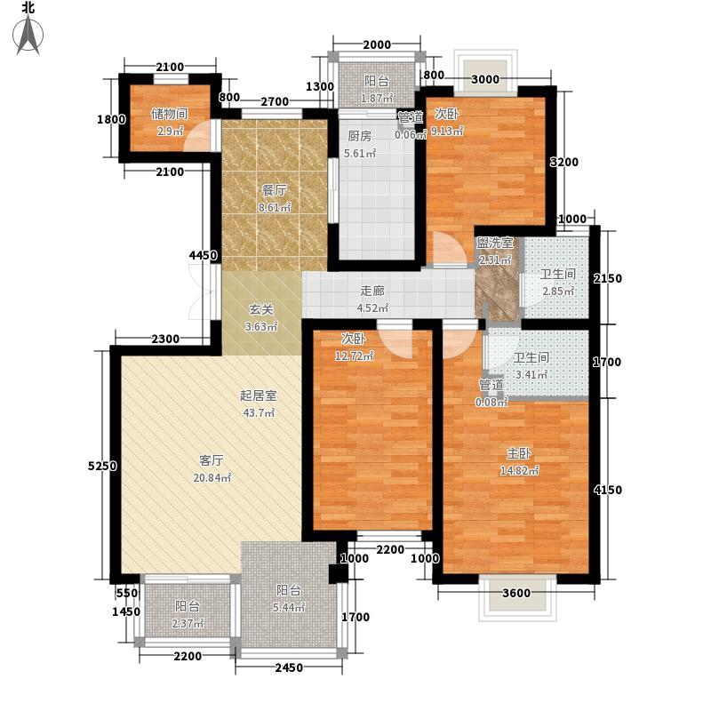 龙凤嘉园145.00㎡龙凤嘉园3室户型3室